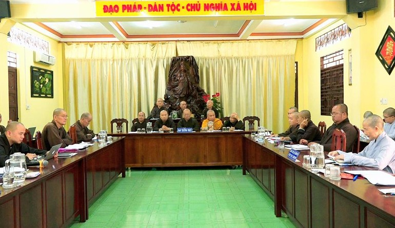 Phiên họp định kì của Ban Trị sự GHPGVN tỉnh Long An ngày 8-3