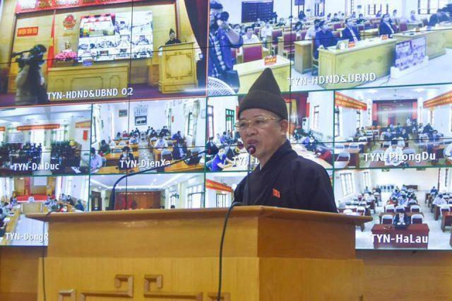 Thượng tọa Thích Thanh Quyết, đại biểu Quốc hội tỉnh khóa XIV trong buổi tiếp xúc cử tri