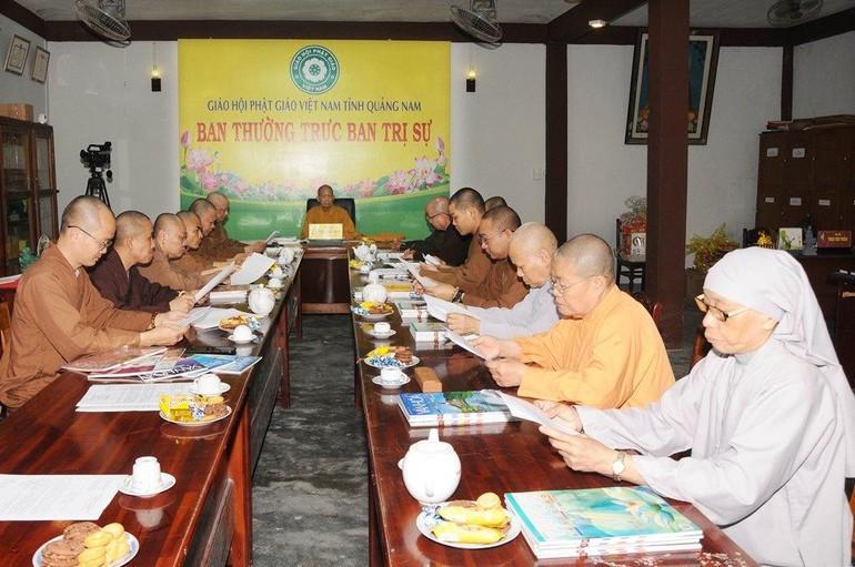 Ban Thường trực Ban Trị sự Phật giáo tỉnh Quảng Nam họp triển khai công tác Phật sự