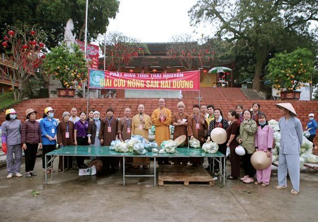 """Phật giáo tỉnh Thái Nguyên cùng chung tay """"giải cứu"""" nông sản tỉnh Hải Dương"""
