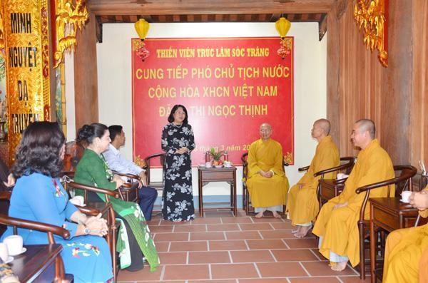 Phó Chủ tịch nước thăm Ban Trị sự Phật giáo tỉnh Sóc Trăng