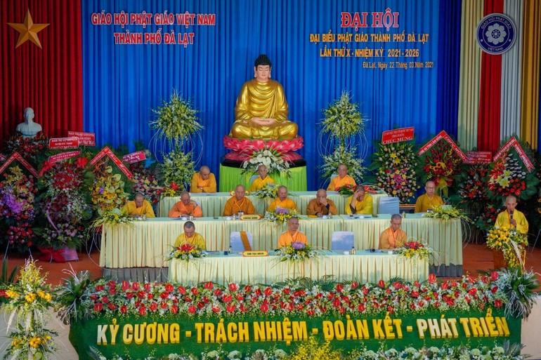 Chư tôn đức Ban Chứng minh, Chủ tọa đoàn của Đại hội đại biểu Phật giáo TP.Đà lần thứ X, nhiệm kỳ 2021-2026