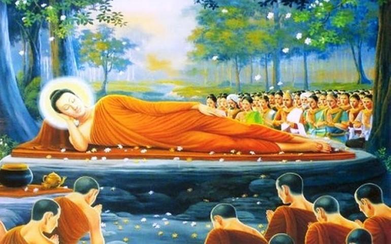 Tranh vẽ Đức Phật nhập Niết-bàn