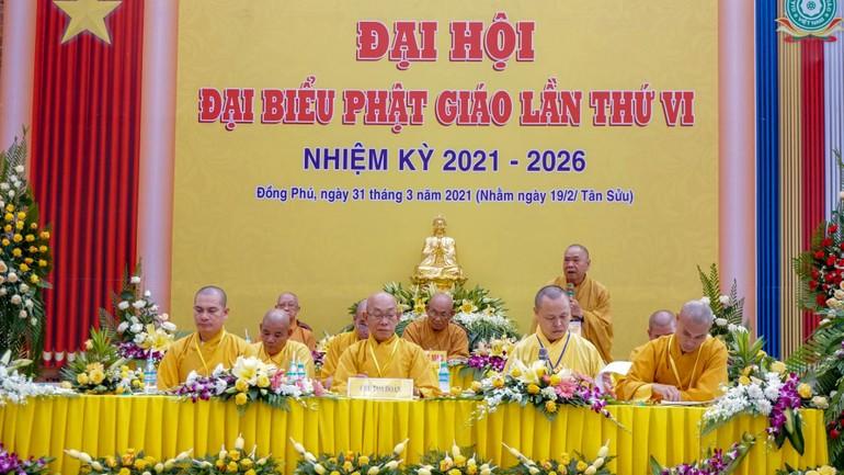 Chư tôn đức Chứng minh, Chủ tọa đoàn Đại hội Phật giáo huyện Đồng Phú