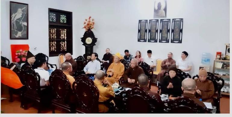 Ban Thường trực Ban Trị sự Phật giáo tỉnh Hà Nam họp tại chùa Bầu (TP.Phủ Lý)