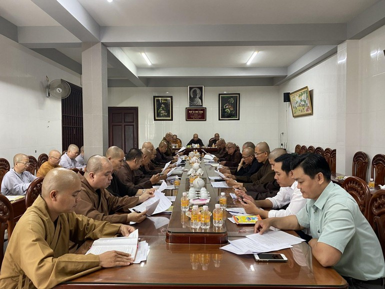 Phiên họp báo cáo công tác Phật sự tháng 3-2021 của Ban Trị sự Phật giáo tỉnh Bến Tre