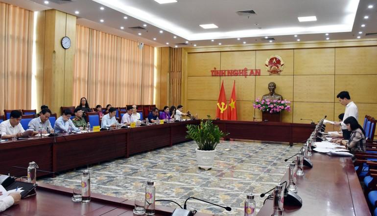 Toàn cảnh buổi làm việc của Ban Tôn giáo Chính phủ tại Nghệ An