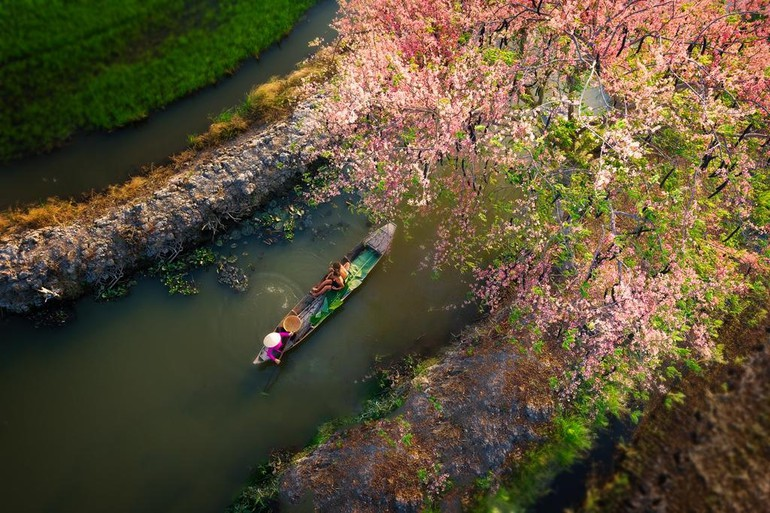 Chèo thuyền - Ảnh: Nguyễn Xuân Trang