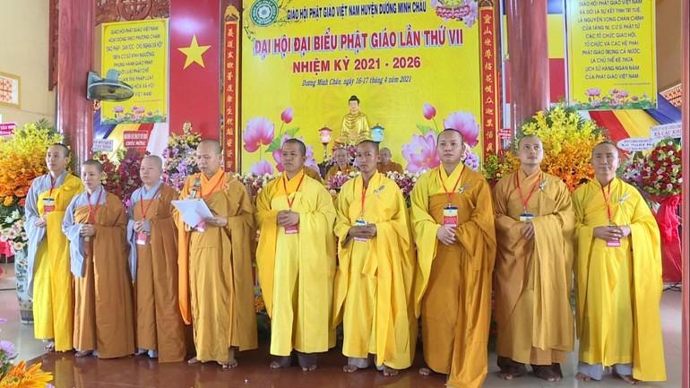 Tân Ban Trị sự Phật giáo huyện Dương Minh Châu nhiệm kỳ 2021-2026