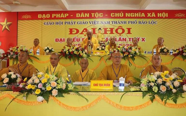 Chư tôn đức Chứng minh, Chủ tọa đoàn tại đại hội đại biểu Phật giáo TP.Bảo Lộc nhiệm kỳ (2021-2026)