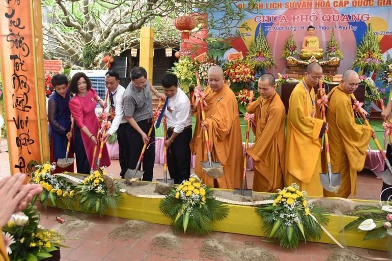 Lễ động thổ trùng tu cụm di tích lịch sử cấp quốc gia chùa Phổ Quang