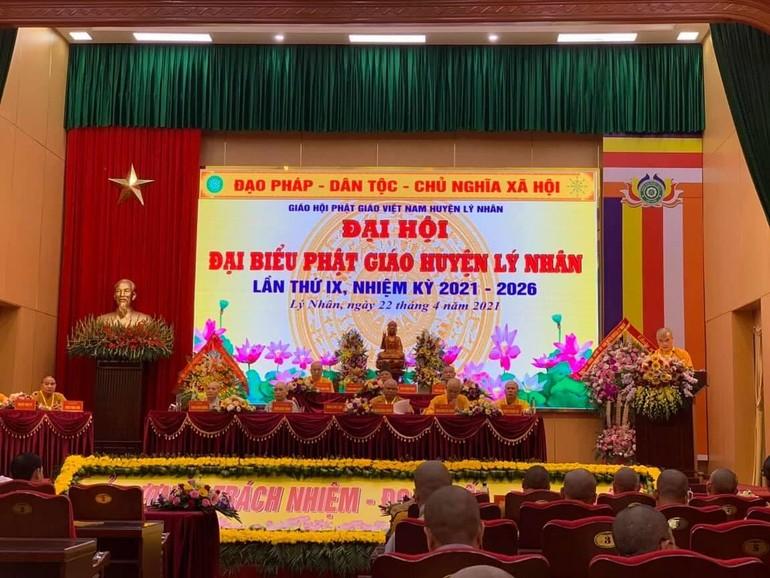 Chư tôn đức Chứng minh, Chủ tọa đoàn Đại hội đại biểu Phật giáo huyện Lý Nhân