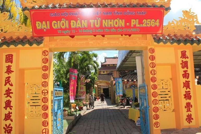 Đại giới đàn Từ Nhơn Phật lịch 2564 tại chùa Phước Hưng
