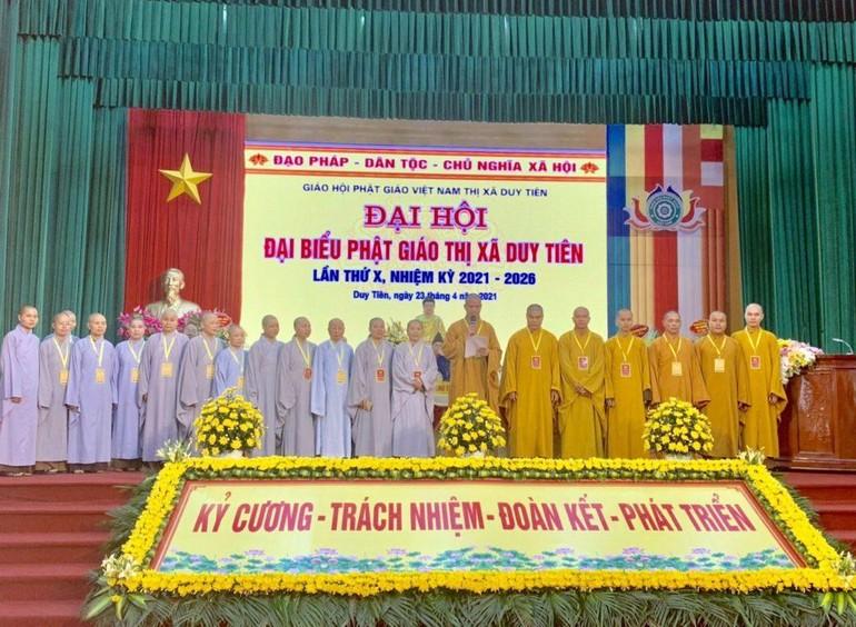 Ban Trị sự Phật giáo thị xã Duy Tiên nhiệm kỳ 2021 - 2026 ra mắt đại hội