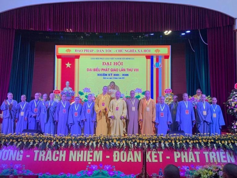 Tân Ban Trị sự GHPGVN huyện Bình Lục nhiệm kỳ 2021 - 2026 ra mắt đại hội
