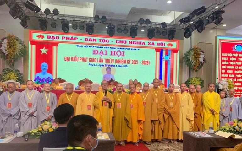 Tân Ban Trị sự Phật giáo TP.Phủ Lý nhiệm kỳ 2021-2026 ra mắt đại hội