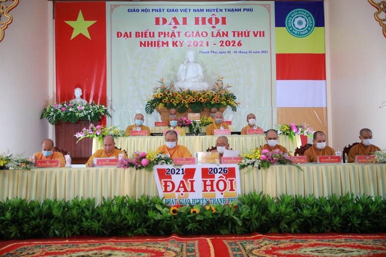 Chư tôn đức Chứng minh, Chủ tọa đoàn Đại hội đại biểu Phật giáo huyện Thạnh Phú lần VII, nhiệm kỳ 2021 - 2026