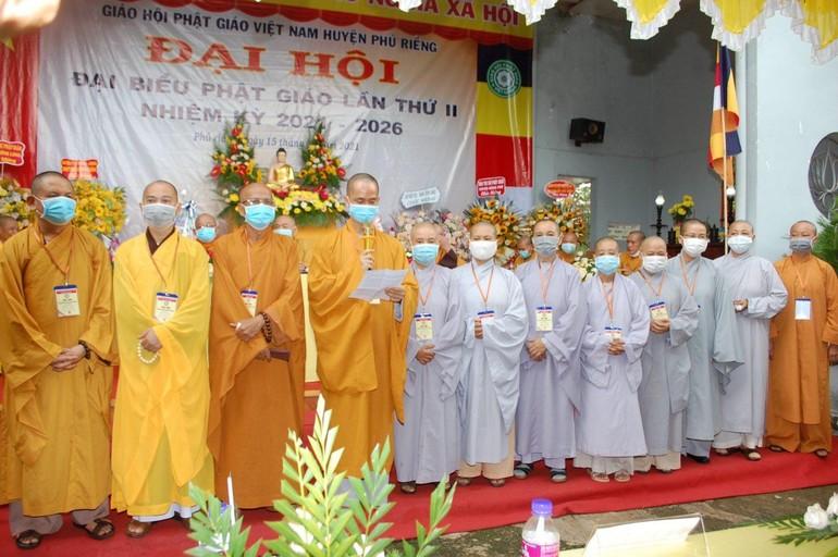 Tân Ban Trị sự Phật giáo huyện Phú Riềng nhiệm kỳ 2021-2026 ra mắt đại hội