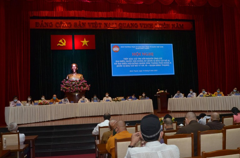 Hội nghị tiếp xúc cử tri với các đại biểu Quốc hội khóa XV và Hội đồng Nhân dân TP.HCM nhiệm kỳ 2021-2026