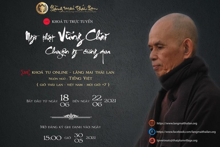 Tăng thân Làng Mai tổ chúc khóa tu tiếng Việt trực tuyến