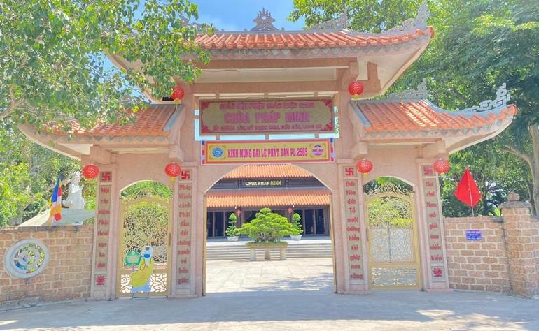 Hạ trường chùa Pháp Minh dành cho Tăng sinh lớp Sơ cấp Phật học tỉnh Long An