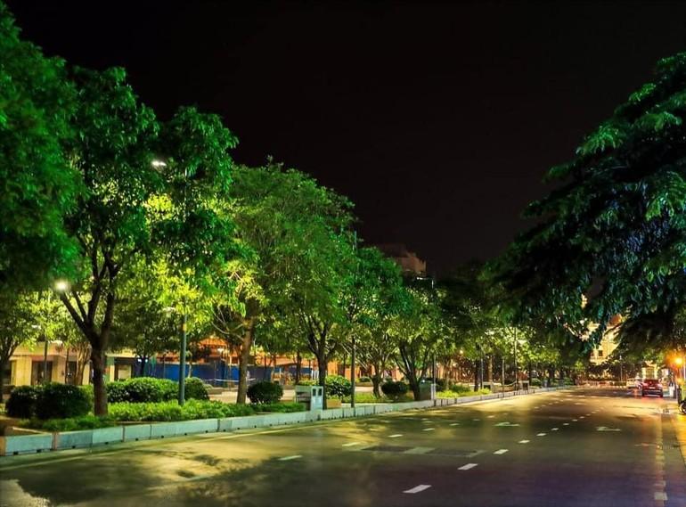Một góc Sài Gòn yên ắng, tĩnh mịch trong những ngày giãn cách - Ảnh: Lý Võ Phú Hưng