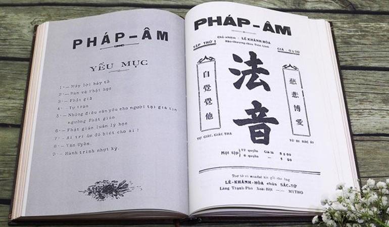 Tờ Pháp Âm ra đời vào tháng 8-1929 được Thư viện Huệ Quang ấn hành lại