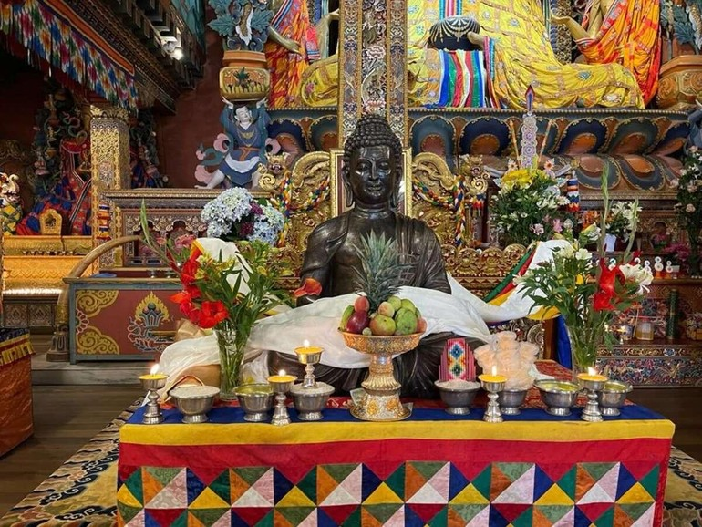 Tượng Phật bằng đồng được Ấn Độ trao tặng Bhutan vào ngày 19-6