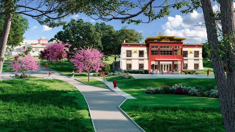 Phối cảnh Trung tâm nghiên cứu và thư viện Dalai Lama