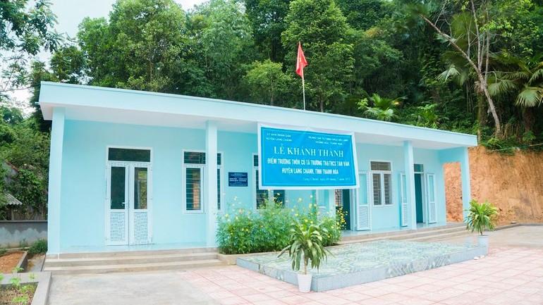 Điểm trường thôn Cú Tá thuộc trường Tiểu học và Trung học xã hội xã Tam Văn