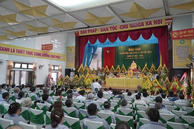 Toàn cảnh Đại hội đại biểu Phật giáo huyện A Lưới nhiệm kỳ 2021-2026