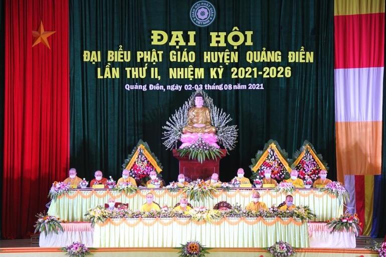 Ban Chứng minh, Chủ tọa đoàn Đại hội đại biểu Phật giáo huyện Quảng Điền lần thứ II, nhiệm kỳ 2021-2026