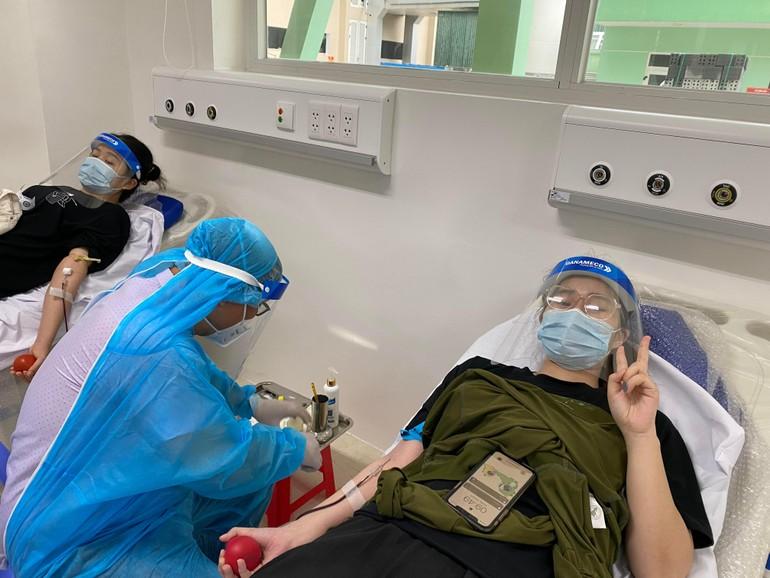 Đội tình nguyện viên máu sống Gia đình Phật tử Đà Nẵng tham gia hiến máu