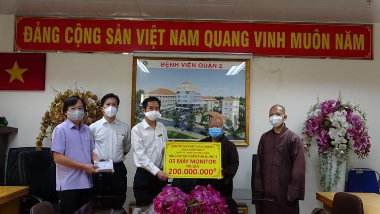 Trao tặng monitor cho Bệnh viện Dã chiến số 3