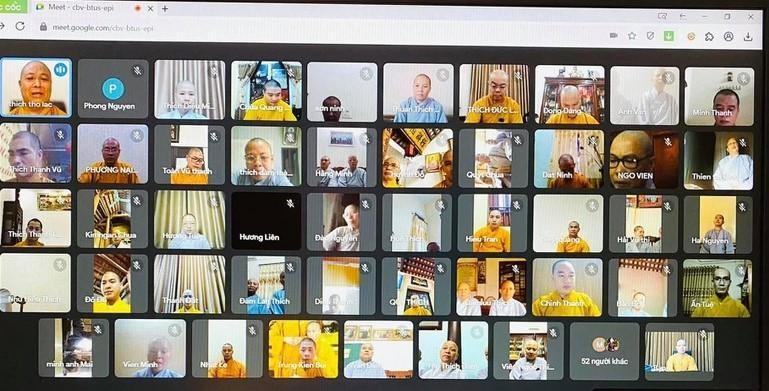 Chương trình được trực tuyến đến các chùa trong tỉnh