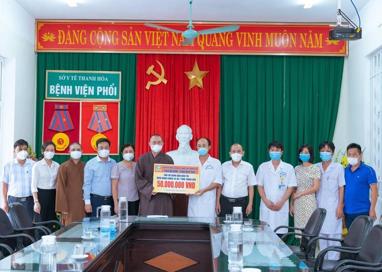 Ban Trị sự GHPGVN tỉnh Thanh Hóa hỗ trợ 50 triệu đồng đến Bệnh viện điều trị Covid-19 số 1 của tỉnh