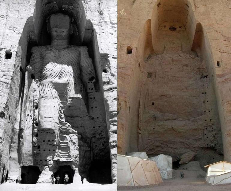 Năm 2001, lực lượng Taliban đã từng phá hủy các tượng Phật lớn bằng sa thạch cổ tại Bamiyan