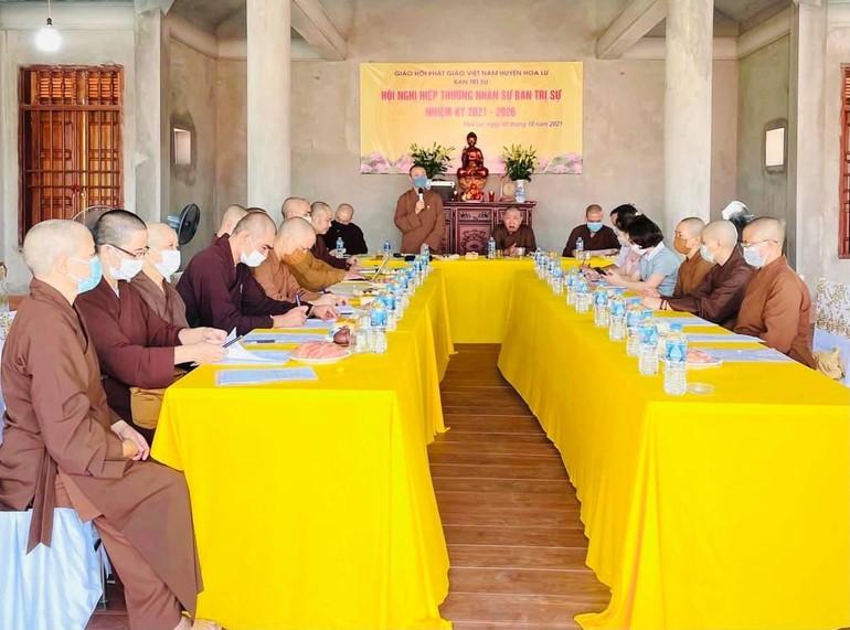Hội nghị hiệp thương nhân sự Ban Trị sự Phật giáo huyện Hoa Lư