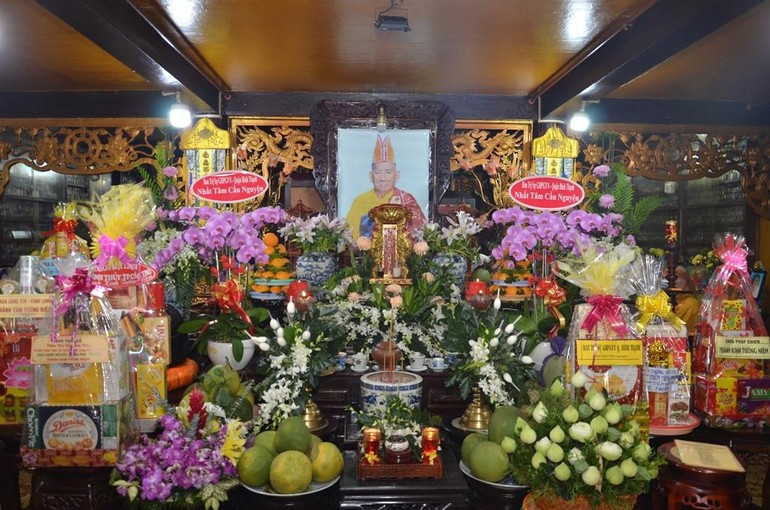 Di ảnh cố Hòa thượng Thích Thiện Phước tại chùa Thiên Hưng