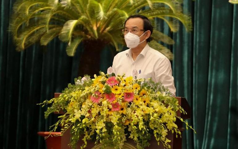 Bí thư Thành ủy TP.HCM Nguyễn Văn Nên phát biểu kết luận hội nghị - Ảnh: Thảo Lê