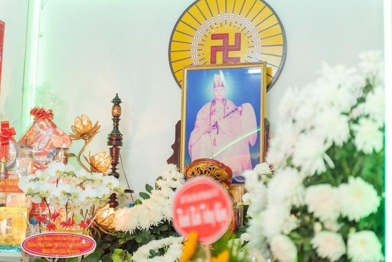 Di ảnh cố Hòa thượng Thích Mỹ Quang - Ảnh: Đăng Huy