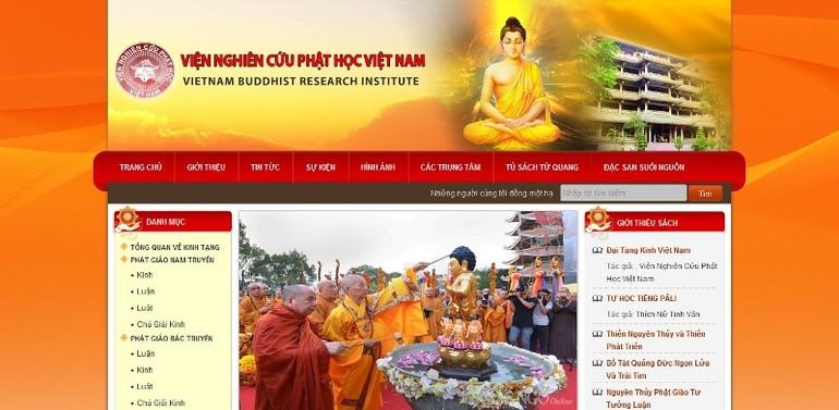 Trang thông tin của Viện Nghiên cứu Phật học VN