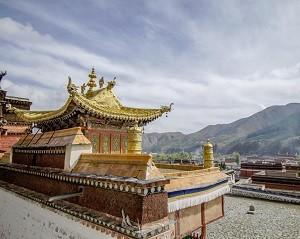 Một góc tu viện Labrang