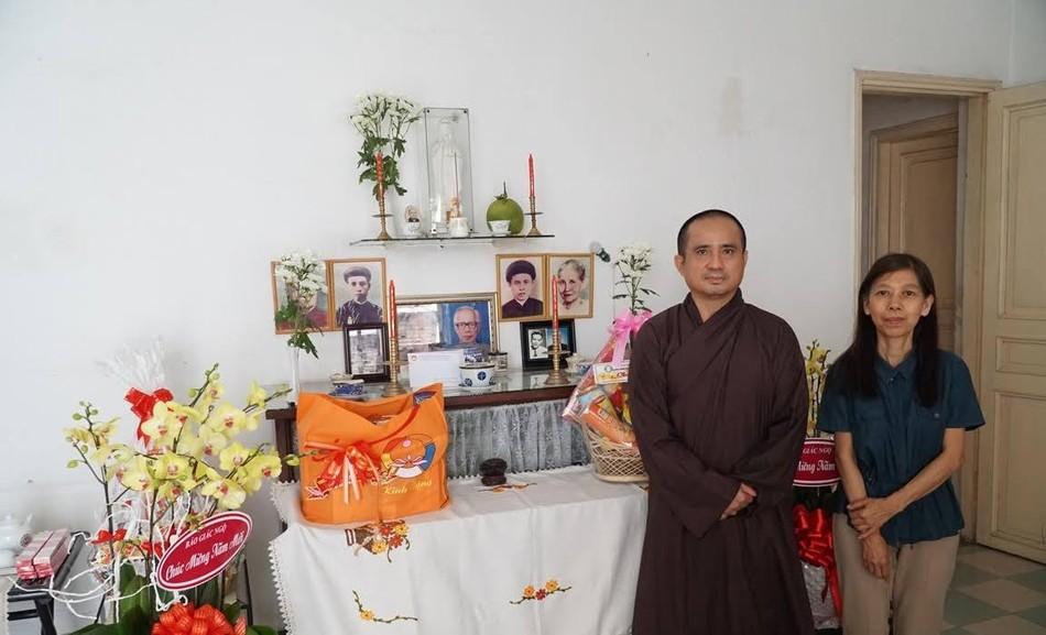 Tưởng niệm cố cư sĩ Võ Đình Cường, thăm cư sĩ Tống Hồ Cầm (104 tuổi) ảnh 1