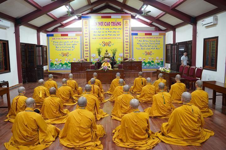 Chính thức truyền giới tại Đại giới đàn Hà Nội Phật lịch 2565 ảnh 110