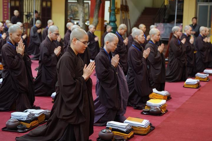 Chính thức truyền giới tại Đại giới đàn Hà Nội Phật lịch 2565 ảnh 64