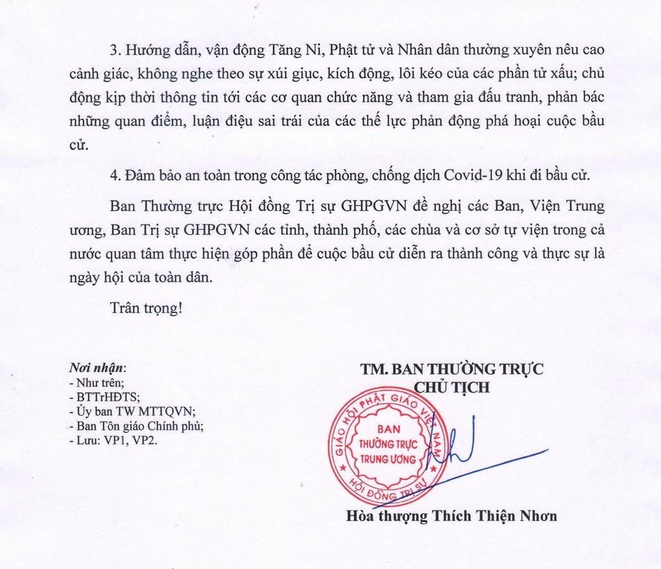 GHPGVN kêu gọi Tăng Ni, Phật tử tích cực tham gia cuộc bầu cử Quốc hội và đại biểu HĐND các cấp ảnh 4