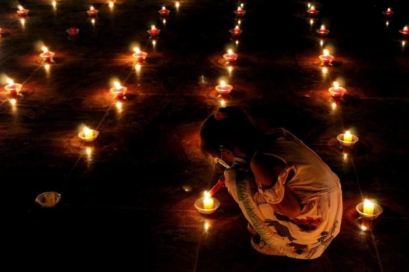 Đồng Nai: Cúng đèn rằm tháng Giêng tại thiền viện Phước Sơn ảnh 4