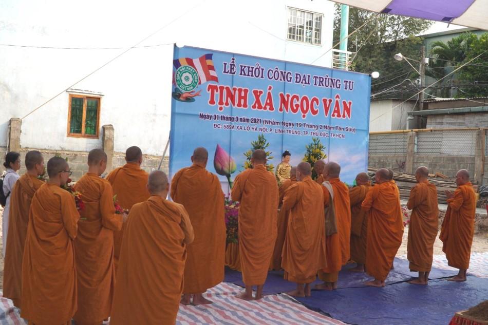 TP.HCM: Lễ khởi công trùng tu tịnh xá Ngọc Vân, thành phố Thủ Đức ảnh 3