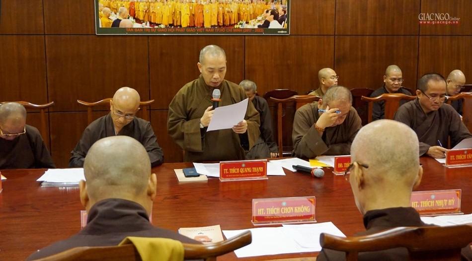 TP.HCM: Ban Thường trực Ban Trị sự thảo luận nội dung tổ chức Đại lễ Phật đản Phật lịch 2565 ảnh 3